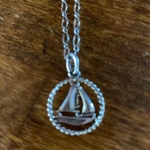 Tiffany & Co 925 silver sailboat necklace